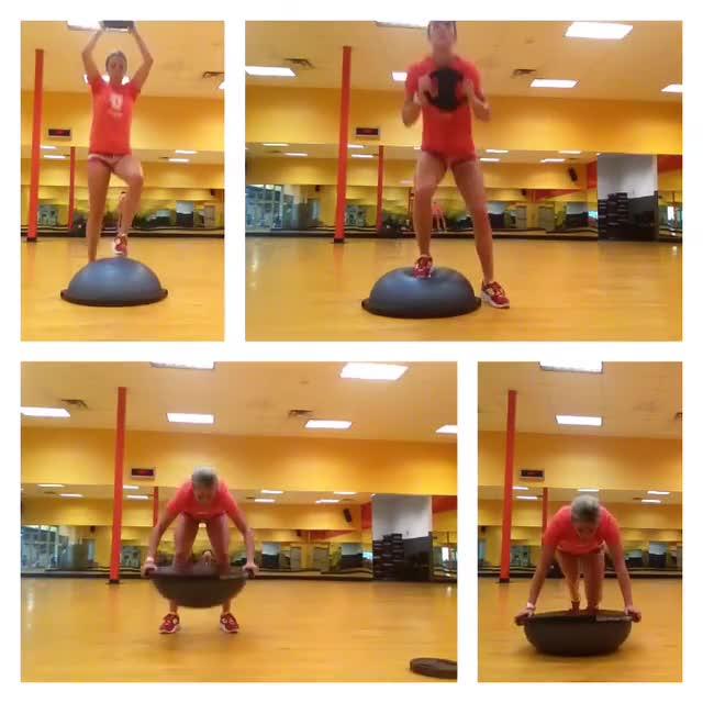 Bosu Ball Side Hops: Bosu Ball Plyos