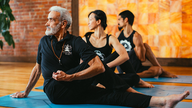 "Sri Dharma Mittra's ""Charging Practice"" Online Video Workouts on Cody"