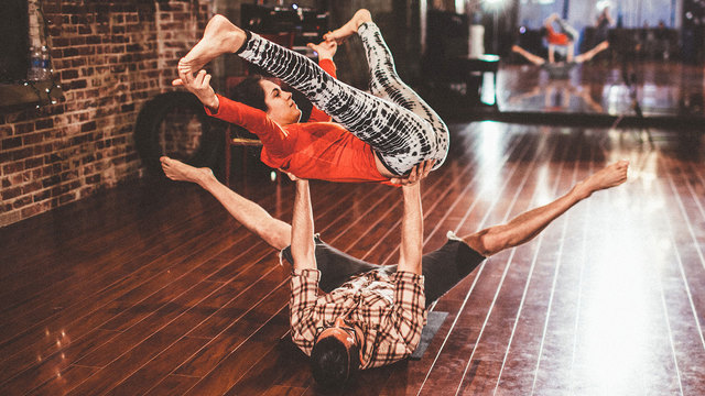 "Daniel Scott's ""Intermediate AcroYoga"" Online Video Workouts on Cody"