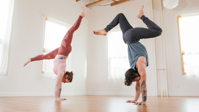 "Patrick Beach & Carling Harps's ""Journey to Handstand"" Online Video Workouts on Alo Moves"
